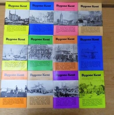 12 x Bygone Kent -  Local History Journals from Volumes 4,6,7 - Job Lot E