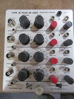 Tektronix  500 Series Oscilloscope Plug-in Type M Four Trace PreAmp