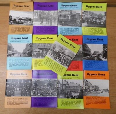 13 x Bygone Kent -  Local History Journals from Volumes 17,18,19,20 - Job Lot K