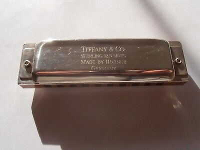 Vintage Tiffany Sterling silver Harmonica Hohner Diatonic key of C plays well