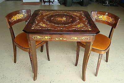 Vintage Sorrento Italian Game Table And Two Chairs