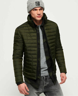 New Mens Superdry Fuji Double Zip Jacket Olive