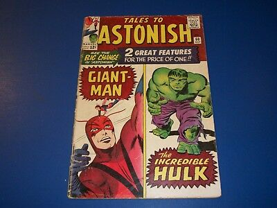Tales to Astonish #60 Silver Age Giant Man Hulk 1st Leader Key