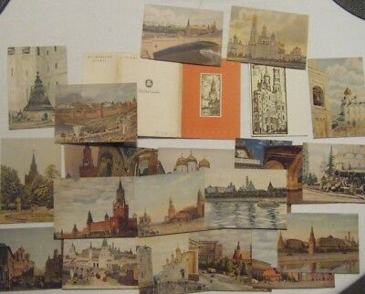 MOSCOU - MOSCOW - Lot  de 22 cartes anciennes  - Old cards-