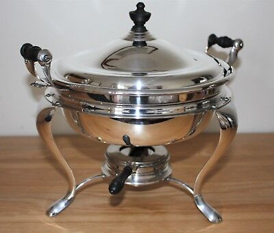 Antique Manning Bowman & Co. Silver Plate Chafing Dish