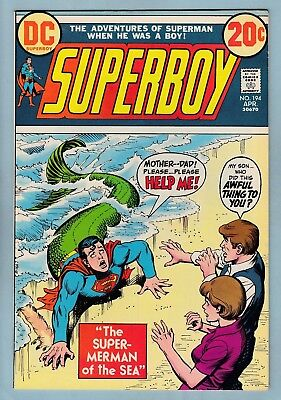 Superboy # 194 Vfn (8.0)  Glossy High Grade Unstamped Us Cents Dc - 1973