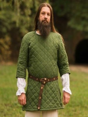 MEDIEVAL GOTHIC Clothing FANTASY Accessories Men GAMBESON Green