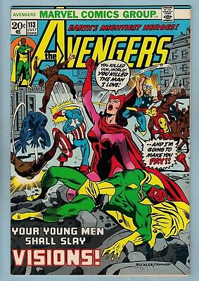 Avengers # 113 Vfn+ (8.5)  Nice Tight & Glossy High Grade Us Cents Copy - 1973