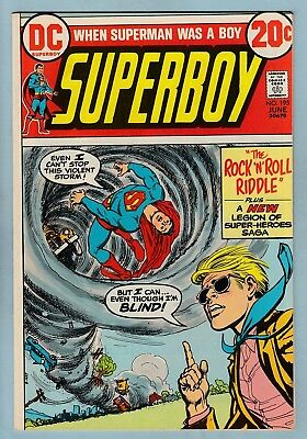 SUPERBOY # 195 VFN+ (8.5) 1st ERG-1/WILDFIRE APPEARANCE - HIGH GRADE - CENTS DC