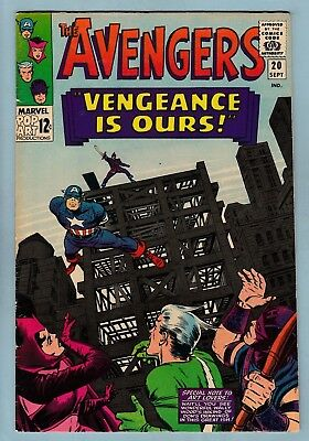 Avengers # 20 Fn+ (6.5)  Nice Looking Mid/higher Grade Us Cents Copy - 1965