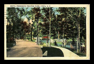 Dr Jim Stamps Us Drive Frederick Proctor Park Utica New York View Postcard