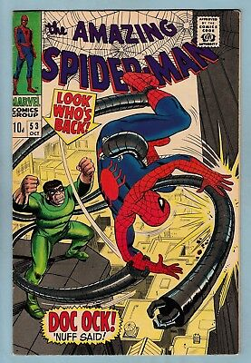Amazing Spider-Man # 53 Vfn (7.5/8.0) Doctor Octopus- Stan Lee_Glossy High Grade