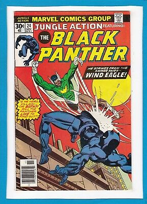 "Jungle Action #24_November 1976_Very Fine_Black Panther_""wind Eagle""_Bronze Age!"