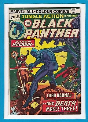 "Jungle Action #11_Sept 1974_Vg/f_Black Panther_""...and Death Makes Three""_Uk!"