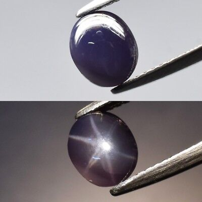 Rare! 1.96ct 7.8x6.5mm Oval Cabochon Natural Purple 6 Ray Star Spinel