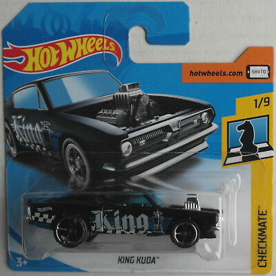 Hot Wheels King Cuda Plymouth Barracuda black Checkmate OVP Treasure Hunt ERROR