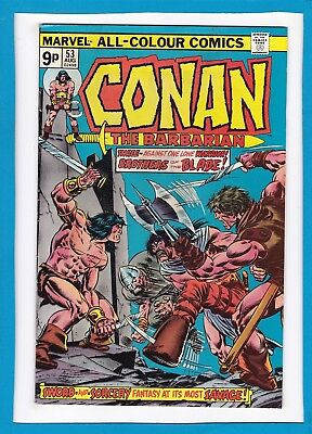 "Conan The Barbarian #53_August 1975_F/vf_""brothers Of The Blade""_Bronze Age Uk!"