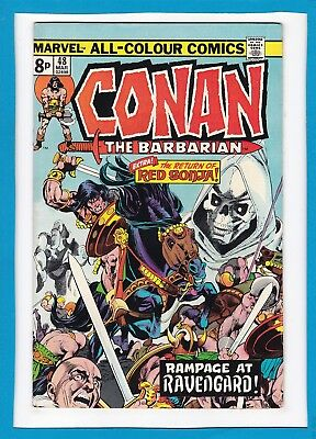 "Conan The Barbarian #48_March 1975_Very Fine_""the Return Of Red Sonja""_Uk!"