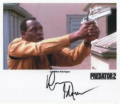 "Predator 2 Auto Photo Print Danny Glover ""Lt. Mike Harrigan"""