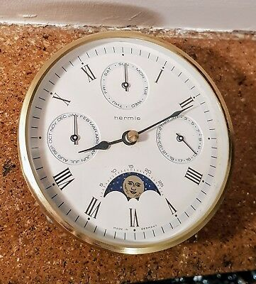 Hermle German Insertion Movement Moonphase & Calendar Clock