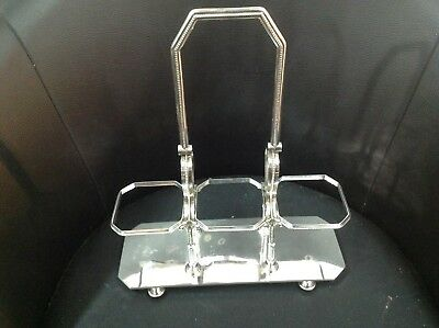 Beautiful c.1850's Silver Plated Bottle/Decanter Holder by Martin, Hall & Co