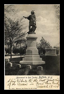 Dr Jim Stamps Us Monument Red Jacket Buffalo New York View Postcard