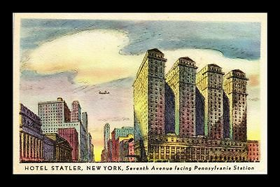 Dr Jim Stamps Us Hotel Statler New York Seventh Avenue View Postcard