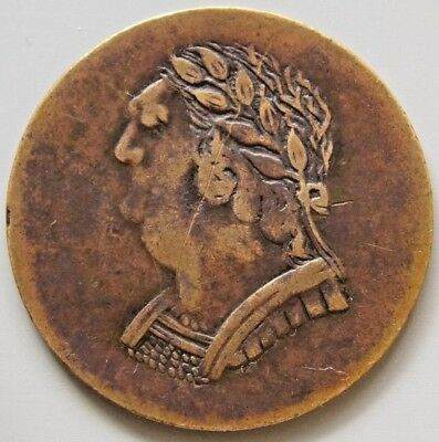"1820 LC-60E2 Lower Canada Canadian Colonial "" Bust & Harp "" Token"