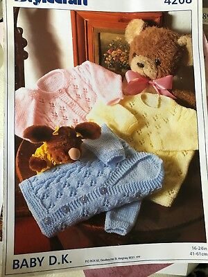 "Baby KNITTING PATTERN 16-24""  Sweater And cardigans Dk"