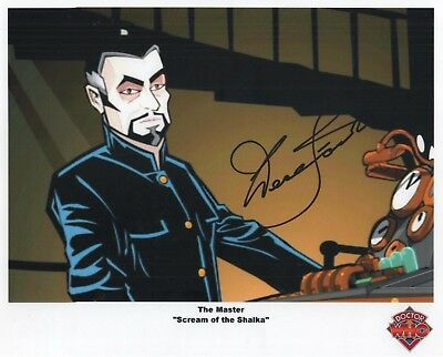 "Doctor Who Auto Photo Print Derek Jacobi ""The Master"""