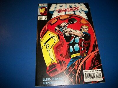 Iron Man #304 Thor NM- Beauty with Trading cards 1st Hulkbuster key