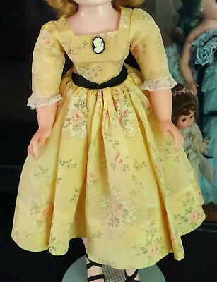 "Beautiful ""Rose Dress"" for Vintage Cissy by Madame Alexander"