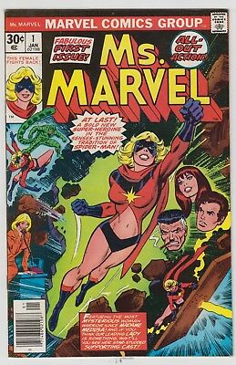 Ms Marvel # 1  -Nm  1St Carol Danvers As Ms Marvel 1St Print Cents  1977   Hot