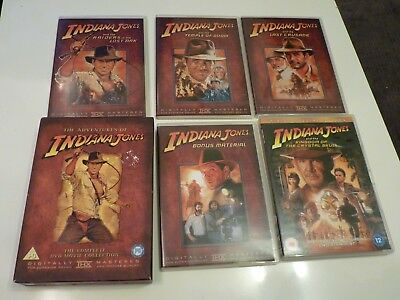 The Adventures of Indiana Jones Complete DVD Movie Collection 4 Films + Extras