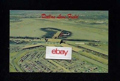 Dallas Love Field 1960S Aerial View Braniff 707 Aa Electra Cal Viscount Postcard