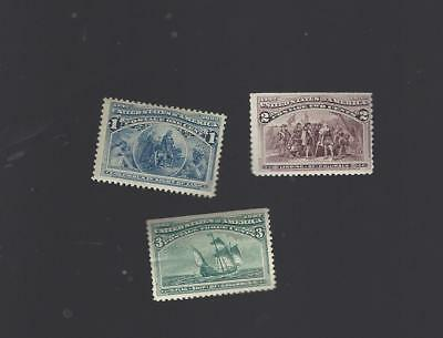 230,231,232 MNH  Colombian issue  MNH    CV $66