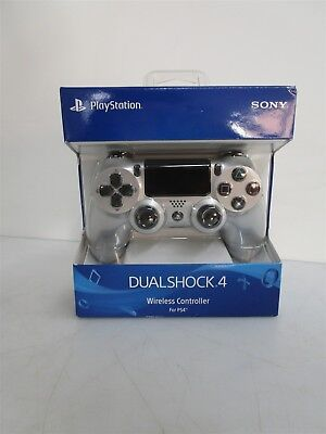 Sealed Sony Playstation Dualshock 4 Wireless Controller Silver w/ Black Accents