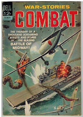 Combat #10 1963 Battle Of Midway Silver Age!