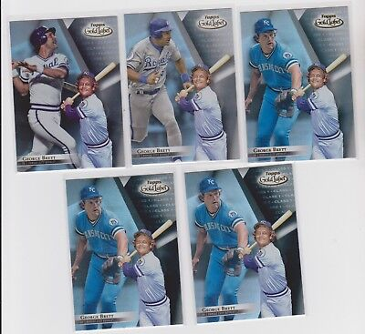 2018 Gold Label GEORGE BRETT class 1-2-3 complete set Royals with black lot of 5