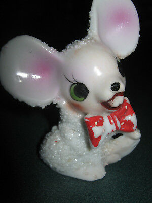 Vintage Retro Sugar Coated, Sugar Crusted Ceramic Mouse! Adorable, Must See!