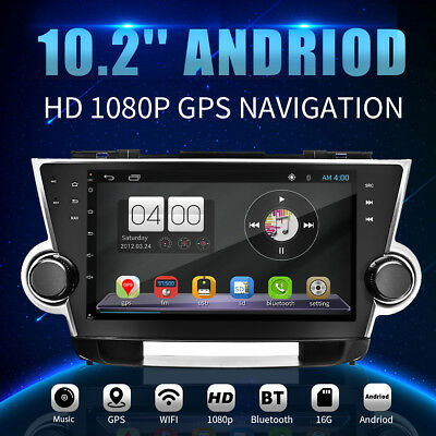 10.2'' Android Car GPS Radio Navigation Stereo For Toyota 2009-2014 Highlander
