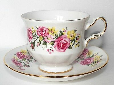 Fine Royal Vale Bone China Footed Cup Number E 37 6/saucer Number G 57 9 England