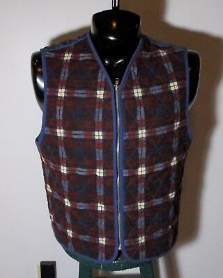 Men's J.CREW Blue Red Quilted Insulated Vest Size M