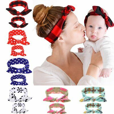 Mom Mother & Daughter Baby Girl Headband Hair Band Accessories 2PCS Set
