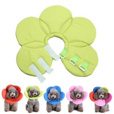 Pet Elizabethan Collar Protector Dog Cat Soft Cone Recovery E-Collar Bite-Proof