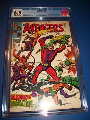 Avengers #55 1st Ultron Silver Age Key CGC 6.5 Fine+ Beauty Black Panther Wasp!