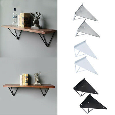 2X Hairpin Industrial Wall Shelf Support Bracket Metal Prism Mount Easy Install