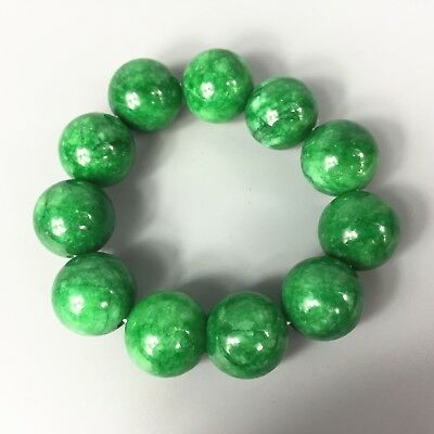 Antique Chinese Old Rare Collectible nature Green Jade Handwork noble Bracelet