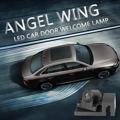 2x Angel Wings LED Light White Welcome Light Door Shadow Projector SUV Car KBX