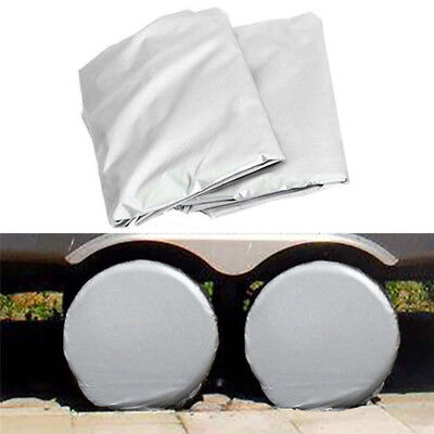 """27-29"""" Set Of 2 Wheel Tire Covers For RV Trailer Camper Car Truck And Motor Home"""